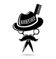 Barbershop hipster logo character vector image