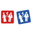 broken wedding grunge textured icon vector image