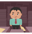 Businessman overhelmed by a paperwork vector image