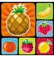colorful fruity icons set vector image