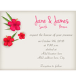 hibiscus wedding background vector image