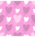 Melting hearts seamless pattern vector image