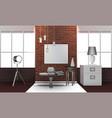 realistic loft interior vector image
