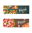 realistic pizza flyer background vector image