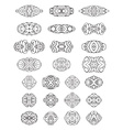 Set of ornamental geometric design elements and vector image