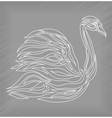 Vintage swan on background vector image