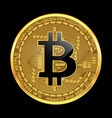 Crypto currency bitcoin golden symbol vector image
