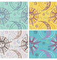 Set of seamless sun moon backgrounds vector image vector image