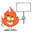 Flame cartoon vector image