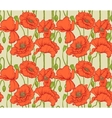 Big seamless pattern of red poppies vector image