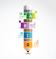 pencil geometric banner concept vector image