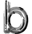 Grunge font Letter b vector image vector image