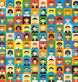 Flat Design Colorful Background Different People vector image