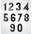 Black and white dotty graphic decorative numbers vector image