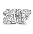Happy New Year 2017 celebration number vector image