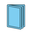 book open symbol graphic vector image
