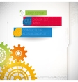 Colorful gears on gray background vector image