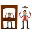 Cowboy in action vector image