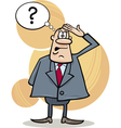 Funny confused boss vector image
