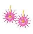 gemstone earrings vector image