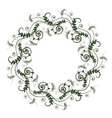 green floral pattern with wreath from vetch vector image