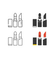 lipstick icon set vector image