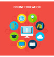 Online Education Infographic Concept vector image