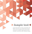 Triangle abstract red vector image