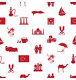 turkey country theme symbols seamless pattern vector image