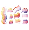watercolor brush strokes on paper vector image