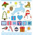 Winter Set Textile Element vector image