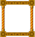 traditional column frame bottom vector image