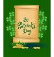 St Patricks Day - greeting card vector image vector image