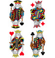 four kings french inspiration without cards vector image