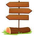 Wooden arrowboards vector image