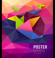 origami paper birds shape geometric design vector image vector image