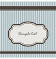 background with stripes and vintage frame vector image vector image