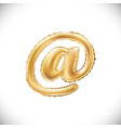 Balloon mail symbol realistic 3d isolated gold vector image
