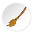 Broom icon cartoon style vector image