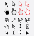 computer cursor and pointers icons vector image