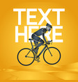 cycling race icon vector image