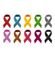 ribbon color collection set concept vector image
