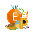 vitamin e vector image