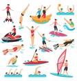 Water Sport Set vector image