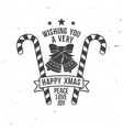 Wishing you very happy Xmas Typography design vector image