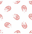 shrimp hand drawing seamless pattern vector image