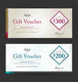 elegant gift voucher or gift card on abstract vector image