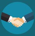 Handshake businessmen making a deal vector image