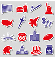united states of america country theme stickers vector image