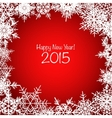 Red and white shiny Christmas snowflake background vector image vector image